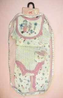 熱賣 英國小木馬Luvena Fortuna 粉紅鳥綿💯5件套裝
