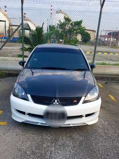 Lancer cs3 black based headlight
