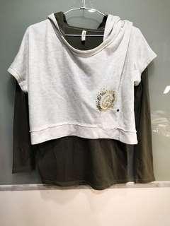 🚚 兩件組專櫃GOZO帽T長袖上衣net GU Nike uniqlo zara