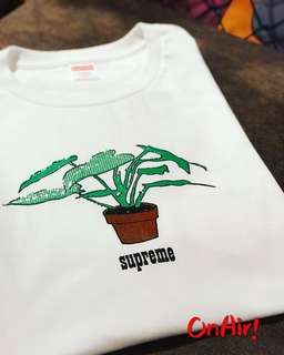 SUPREME PLANT TEE WHITE