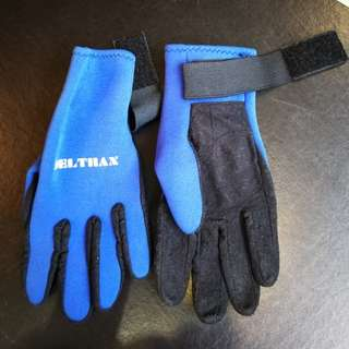 Snorkelling / Diving Gloves, 2 Pairs, Size S