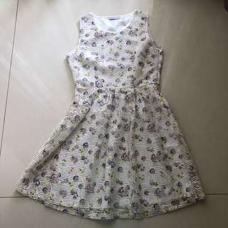 CHIC SIMPLE WHITE FLORAL DRESS