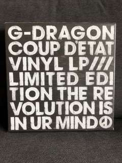 G Dragon Coup D'etat Vinyl LP (Limited Edition)