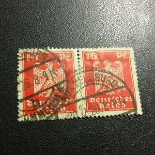 1926 德意志郵票雙連