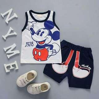 Mickey mouse sleeveless + short pants