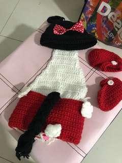 Knitted newborn costume