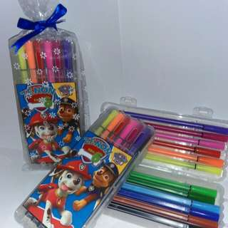 Customised Paw Patrol Theme 12 pieces Colour Pen
