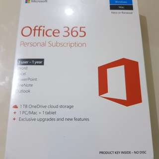 Microsoft 365 Personal Subscription