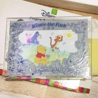 [New 全新] Disney Winnie the Pooh Glass Photo Frame 玻璃相架 (4R)
