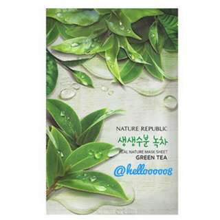 Real Mask Nature Republic Green Tea