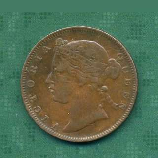 Strait settlement Queen Victoria half cent 1873 Super Rare Coin