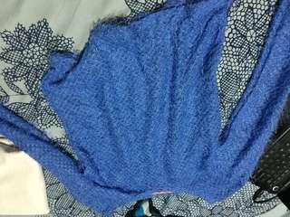 Cotton blue top