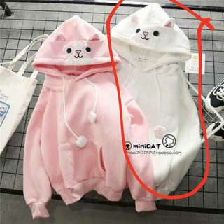 Mini cat jacket color white only