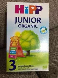 Hipp junior organic 3 for growing toddlers