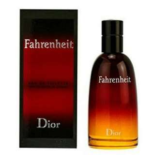 100% Original Parfum Christian Dior Fahrenheit EDT 100ml