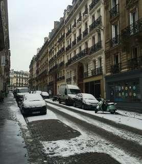 🚚 2018年的2月,巴黎下了好幾場雪!❄️❄️