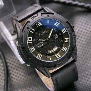 Jam tangan fossil pria tapi kulit