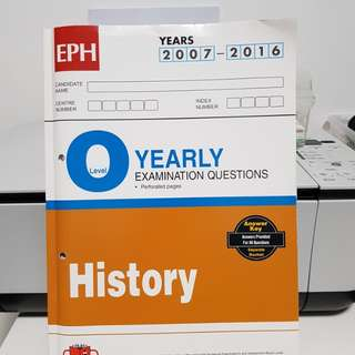 O Level TYS for Pure History