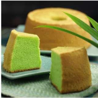 代购新加坡手信:驰名新鲜班兰口味蛋糕Famous Pandan Cake