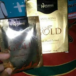 Masker muka hanasui gold