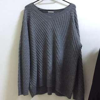 GU灰色針織上衣