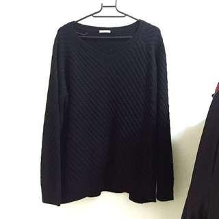GU黑色針織上衣