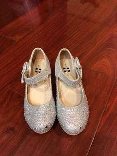 女童亮片低跟鞋18cm(穿過ㄧ次而已喔!9成新!