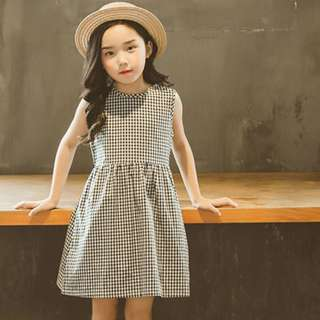 Black & White Checkered Dress for Girls | Children's Dress