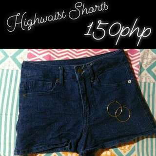 Denim Highwaist Shorts