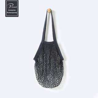 Chic Casual Mesh Tote Bag (Black)