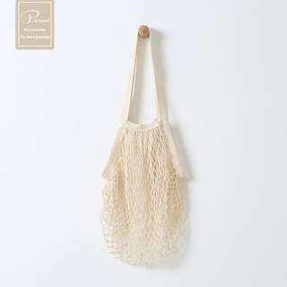 Chic Casual Mesh Tote Bag (Beige)