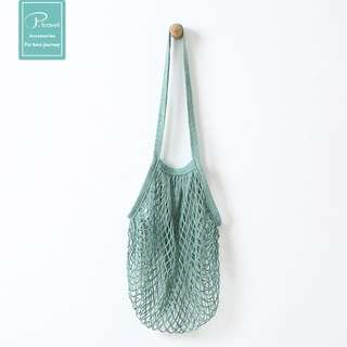 Chic Casual Mesh Tote Bag (Pastel Green)