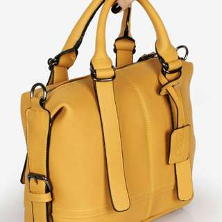 Set 2 in 1 ZARA Vintage Satchel-Style Handbag Soft Clemence Leather Hardware Black 1457*