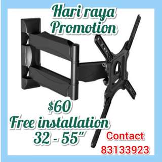 Tv bracket (hari raya promotion)