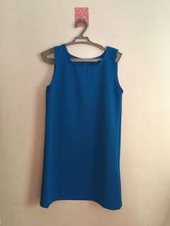 BLUE DRESS /FITTED