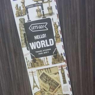 Hello World Travel Sticker