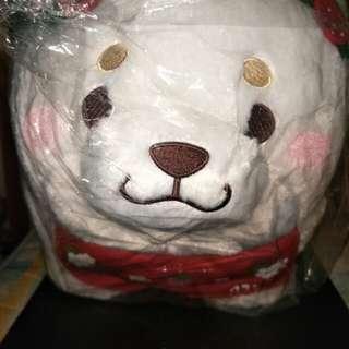 🆕 Faithful Mochishiba - Strawberry BIG Plushy [ΩUFO CATCHER PRIZESΩ]