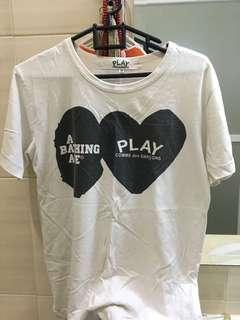 T shirt CDG x Bape