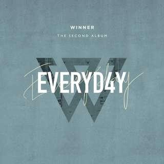[PRE ORDER] WINNER 2nd ALBUM - EVERYD4Y