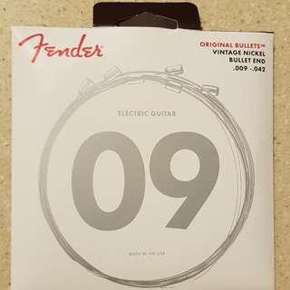 Fender Bullet End Electric Guitar Strings Vintage Nickel 0.09