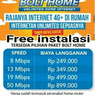 Wifi unlimited bolt home