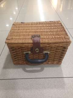 Original Vintage Rattan Wicker Retro Basket Bag For Classic Bike Vespa Bicycle Picnic Indie Retro Wedding Shoots Props