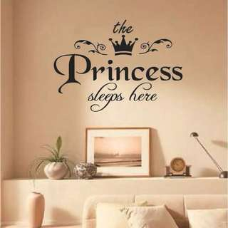 (Promotion)princess wall decal sticker