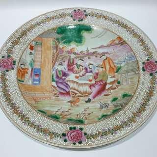 「廣彩人物瓷碟」