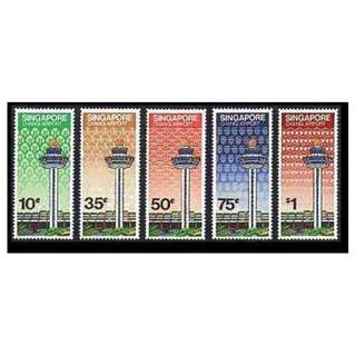 Clearing at Face Value: Singapore stamps -1981 opening of Changi Airport set of 5, Mint Not Hinged