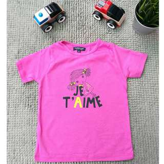 Polo Assn 100% Cotton Girls Kids T- Shirts Ready Stock  (JE TAIME)