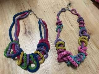 Funky spongey necklace