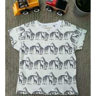 Zebra Pattern Casual 100% Cotton Kid T-Shirt