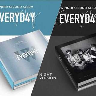 WINNER 2nd Full Length Album EVERYD4Y (Day Ver. / Night Ver.)
