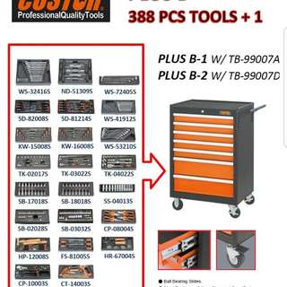 388 pcs Tools with Toolboxe